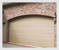New home construction garage door installation