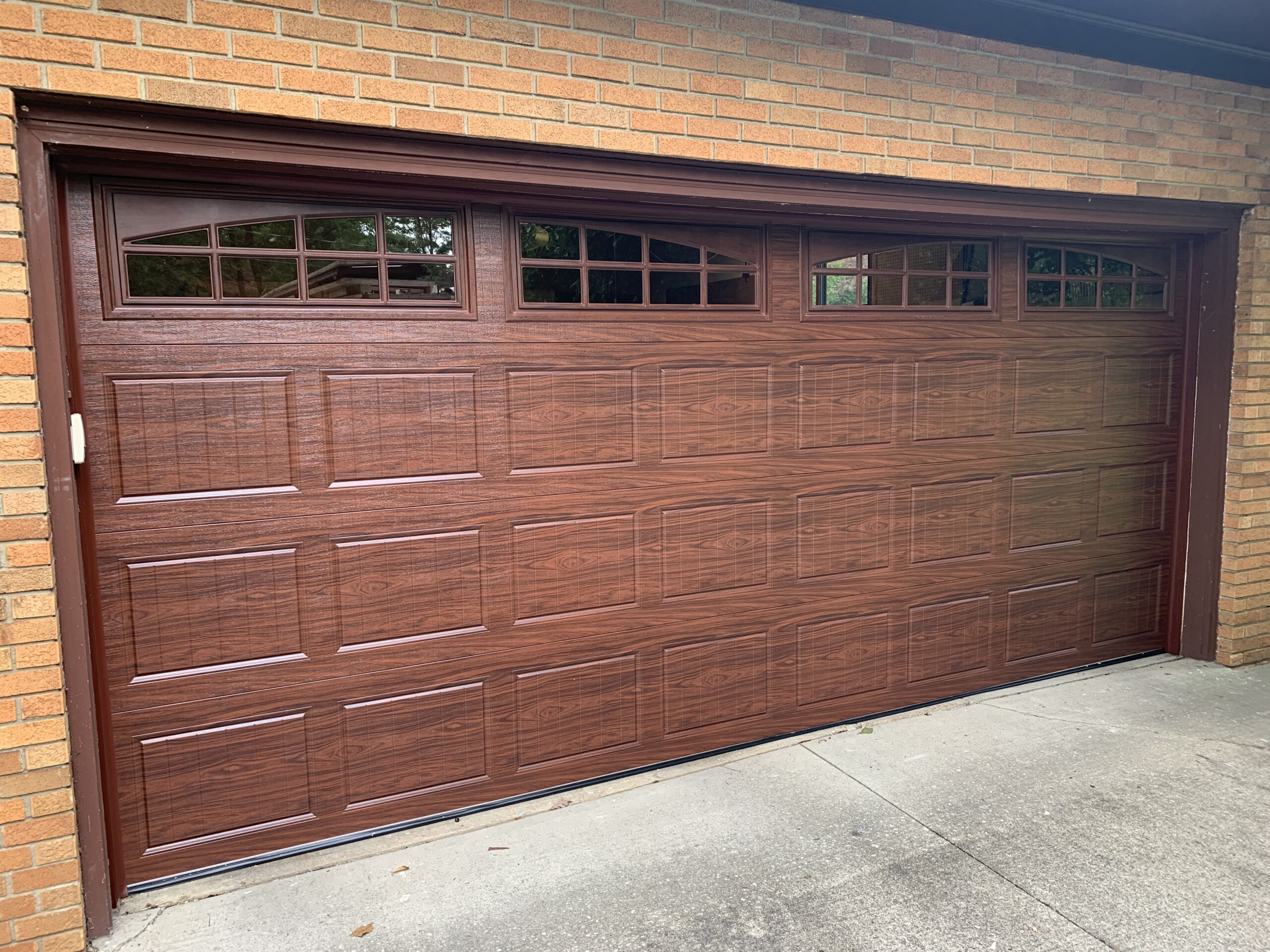 New replacement garage door installation by Kent Garage Doors
